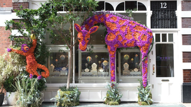 Animal-shaped flower displays
